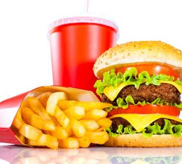 Double burger and large fries