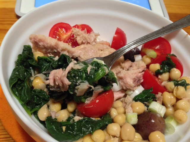 warm-spinach-and-tuna