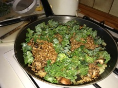 Buckwheat, mushroom and kale