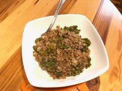 Mushroom and kale buckwheat
