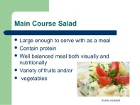Main course salad